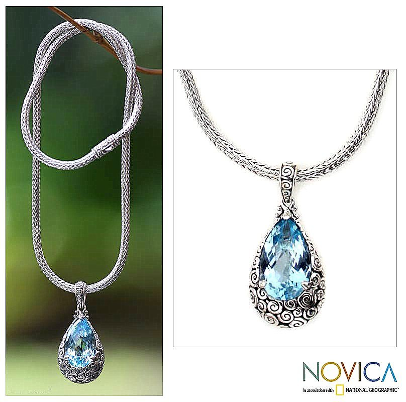 Azzure Silvers: Azure Teardrop Artisan Jewelry Sterling Silver And Blue
