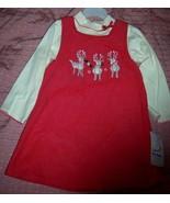 BT Kids Christmas Reindeer Toddler Dress 4T NEW - $20.00