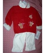 Girls 3 Piece Christmas Pant Set Gingerbread Men 18 Mths NEW - $22.00