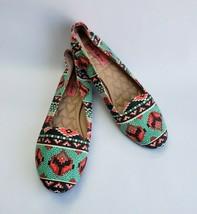 Betsey Johnson Shoes Flats Multi-Color Ballet Flats Brritney Womens Size 8.5 M - $34.60