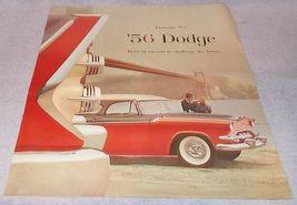 Dramatic New 1956 Dodge Automobile Sales Color Brochure Original - $19.95