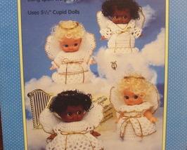 Angel Cupids Crochet Crocheting Patterns Cupid Dolls Angels Dresses Wings - $7.95