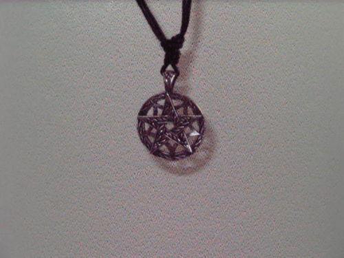 Pewter Pentagram Pendant - Gothic Necklace