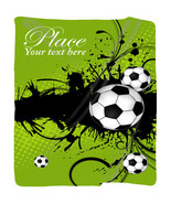 Personalized Soccer Plush Fleece Blanket - Your Name/Text - $65.00