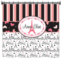 Personalized I Love Paris Shower Curtain - with your name or Initials - $78.00