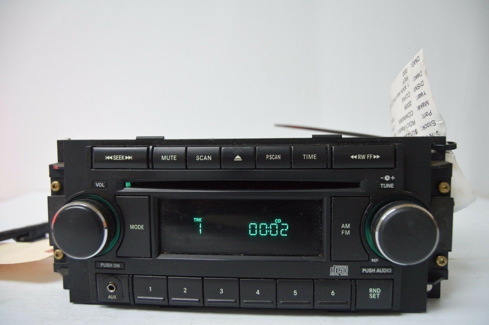 2004-2010 CHRYSLER DODGE RADIO CD PLAYR AUX IPOD (FOR PARTS) P05064171AF C13#017