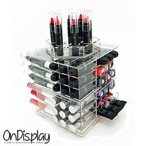 OnDisplay Siena Rotating Acrylic Cosmetic/Makeup Organizer, Clear - $39.11
