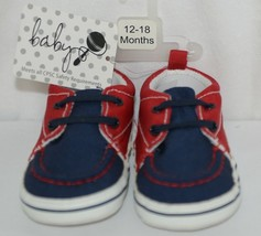 Baby Brand Red White Blue 309067 Pre Walker Infant Shoes 12 to 18 Months image 1