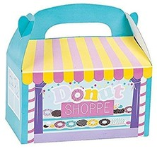 DONUT PARTY TREAT BOXES - Party Supplies - 12 Pieces