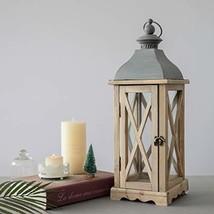 "S.H. 6"" x 6"" x 20"" Wood Wooden Decorative Candle Lantern Vintage Rustic ... - $40.42"