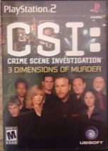 CSI: Crime Scene Investigation -- 3 Dimensions of Murder (PS2, 2007)(A336) - $6.77