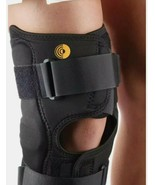 Corflex Black Hinged Knee Support Brace Compression, adjustable unisex s... - $28.04