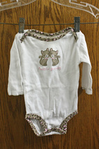 """Carter's White Kitty """"Auntie's Favorite""""  One-Piece - size Girls 3-6 Months - $7.99"""