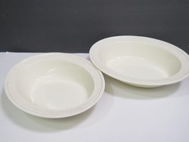 "2 Wedgwood Edme Creamware Oval Vegetable Serving Bowls 10.75"" - $41.58"