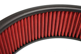"HIGH FLOW WASHABLE & REUSABLE ROUND AIR FILTER ELEMENT REPLACEMENT 14"" X 4"" RED image 7"