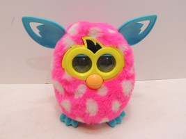 Hasbro Furby Boom 2012 Interactive Pink w/ White Polka Dots & Blue Ears ... - $24.70