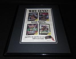 Atari Lynx 1992 11x14 Framed ORIGINAL Vintage Advertisement - $32.36