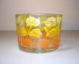 Vintage Glass Ice Bucket Retro Floral Design - $54.00