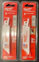 "Milwaukee 49-00-5414 M12 Hackzall Blade 4"" PVC 2 - 5-Packs USA - $10.89"