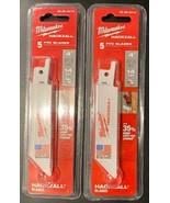 "Milwaukee 49-00-5414 M12 Hackzall Blade 4"" PVC 2 - 5-Packs USA - $10.89"