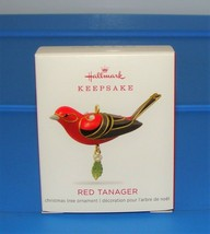 2018 Hallmark RED TANAGER MINIATURE Christmas Ornament Mini beauty of bi... - $17.90