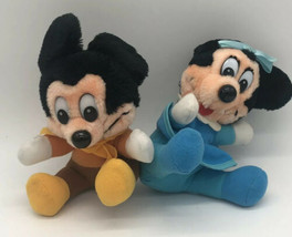 Disney Productions Mickey Mouse Minnie A Christmas Carol Plush Stuffed A... - $17.81