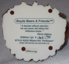 Boyd Bearstone Resin Bears 1994 Wilson The Perfesser Figurine #2222 13E NEW image 4
