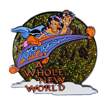 Aladdin Disney Lapel Pin: Magical Musical Moments Lime Green A Whole New World  - $21.90