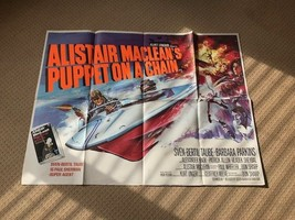 Puppet on a Chain Original UK Quad Film Movie Poster. 1971 Alistair MacL... - $226.52