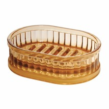 InterDesign Alston Bar Soap Dish for Bathroom Vanities, Kitchen Sink - Amber - $15.10