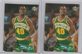 1995-96 Upper Deck  Electric Court #153 Shawn Kemp  Lot of 2 - $3.00