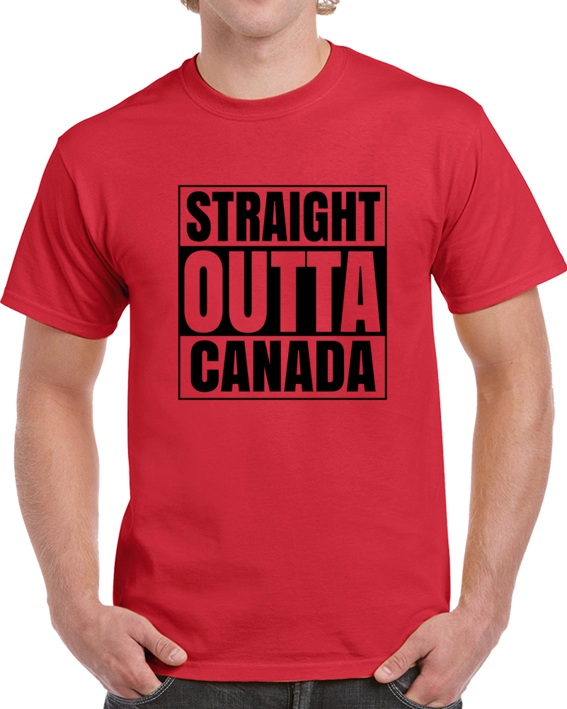 Primary image for Straight Outta Canada Compton Style Funny Country Hip Hop T Shirt