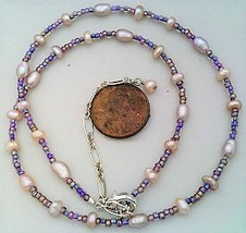 Lavender Freshwater Pearl Necklace - $10.22