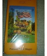 Meadow Creek Fall Patriotic Farm Wagon Garden Flag NEW - $5.95