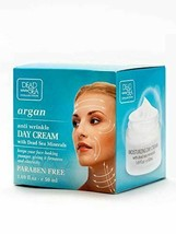 Argan Anti Wrinkle Day Cream with Dead Sea Minerals for firmness and ela... - $12.47