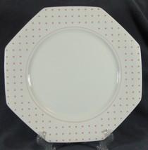 Mikasa POLKA DOTS PINK LDA05 Chop Plate Serving Platter Fine China Octag... - $39.95
