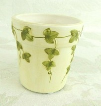 Yankee Candle Co. Votive Holder Ivory & Green Ivy Vines - $15.83