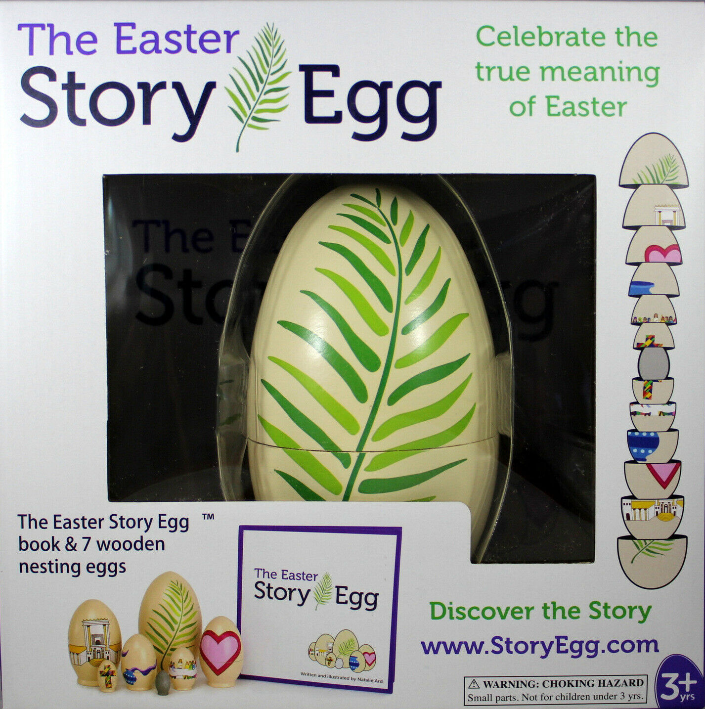 Primary image for The Easter Story Nesting Wooden Egg NEW Celebrate True Meaning Of Easter & Book