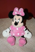 """Disney Parks Authentic Minnie Mouse Plush Polka Dots & Bow Stuffed Doll Toy 10""""  - $5.58"""