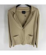 Atos Lombardini tan knit sweater jacket womens 10 or 46 NWT - $50.00