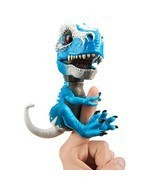 WowWee Untamed T-Rex by Fingerlings Ironjaw Blue -Interactive Collectibl... - £19.35 GBP