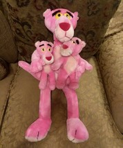 """3 PINK PANTHER Stuffed Animal VINTAGE 24"""" CARTOON (Poseable + Cling + Pl... - $64.30"""