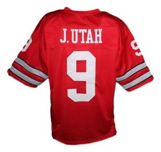 Johnny Utah Point Break Movie Keanu Reaves Men Football Jersey Red Any Size image 4