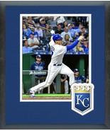 Hunter Dozier 2018 Kansas City Royals -11x14 Team Logo Matted/Framed Photo - $42.95