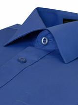 Omega Italy Men's Long Sleeve Solid Regular Fit Royal Blue Dress Shirt - XL image 2
