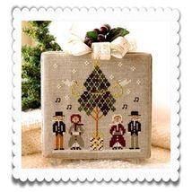 Caroling Quartet release #3 Hometown Holidays cross stitch chart Little ... - $5.40