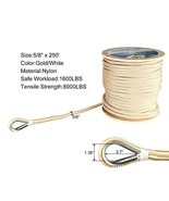 Amarine Made Heavy Duty Double Braid Nylon Anchor Line with Stainless St... - $139.80