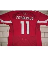 Larry Fitzgerald 11 Arizona Cardinals NFL NFC West Cardinal Red White Je... - $53.45