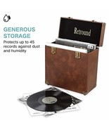 Retround Vintage Retro Vinyl leather Record Record Storage Carrying Case... - $49.62