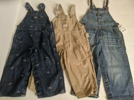 Lot of 3 Boys Overalls Pants OshKosh B'Gosh Size 24 Months - $19.99